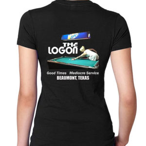 Logon-Cafe-T-Shirt-Pool-Hall-Womens-Back
